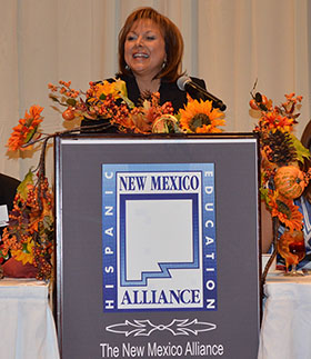 Gov. Susana Martinez delivers the keynote address at the HSF Scholarship Luncheon, 11/14/2014.